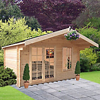 Shire Cannock 10x8 Apex Tongue & groove Wooden Cabin - Assembly service included