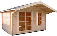 Shire Cannock 12x8 Apex Tongue & groove Wooden Cabin - Assembly service included