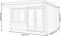Shire Danbury 14x12 Pent Tongue & groove Wooden Cabin