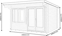 Shire Danbury 12x10 Pent Tongue & groove Wooden Cabin - Assembly service included