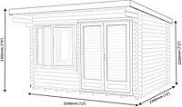 Shire Danbury 12x10 Pent Tongue & groove Wooden Cabin
