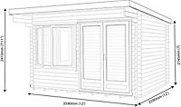 Shire Danbury 12x12 Pent Tongue & groove Wooden Cabin