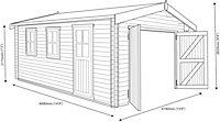15x14 Bradenham Wooden Garage With assembly service