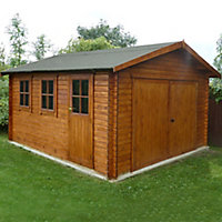 Shire 17x14 Bradenham Wooden Garage - Assembly service included