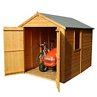 Shire Warwick 8x6 Apex Shiplap Wooden Shed (Base included) - Assembly service included