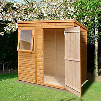 Shire Caldey 6x4 Pent Shiplap Wooden Shed - Assembly service included