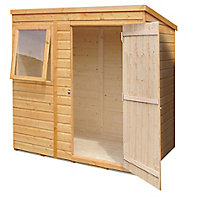 Shire Caldey 6x4 Pent Shiplap Wooden Shed (Base included) - Assembly service included