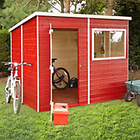 Shire Caldey 8x6 Pent Shiplap Wooden Shed (Base included) - Assembly service included