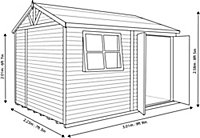 Shire Mammoth 10x7 Apex Wooden Workshop - Assembly service included