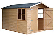 10x7 Guernsey Apex Shiplap Shed Base included