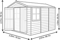 Shire Guernsey 10x7 Apex Shiplap Wooden Shed (Base included)