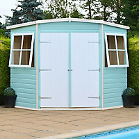 Shire Murrow 7x7 Pent Shiplap Wooden Shed - Assembly service included