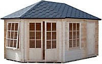 Shire Rowney 14x10 Apex Tongue & groove Wooden Cabin - Assembly service included
