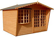 Shire Sandringham 10x10 Apex Shiplap Wooden Summer house - Assembly service included