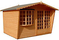 Shire Sandringham 10x8 Apex Shiplap Wooden Summer house