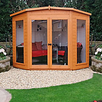 Shire Barclay 7x7 Pent Shiplap Wooden Summer house - Assembly service included