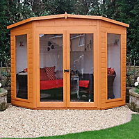 Shire Barclay 8x8 Pent Shiplap Wooden Summer house - Assembly service included