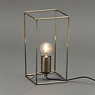 Inlight Jules Wire Matt Antique brass effect Table lamp