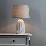 Inlight Stephano Embossed ceramic Ivory LED Table light