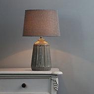 Inlight Stephano Embossed ceramic Grey LED Table light