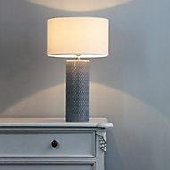 Inlight Dactyl Embossed ceramic Grey LED Table light