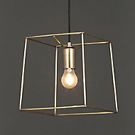 Jules Antique brass effect Pendant Ceiling light
