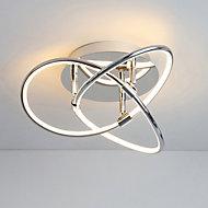 Pandia Spiral Chrome effect Ceiling light