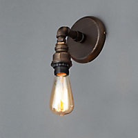 Parel Pipe Bronze effect Wall light