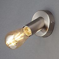 Lapetus Industrial Nickel effect Wall light