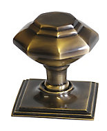 The House Nameplate Company Antique effect Octagonal External Door knob (Dia)80mm