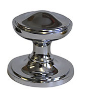 Premier Polished Chrome effect External Round Latch Door knob