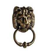 Classic Lion Metal Brass effect Door knocker