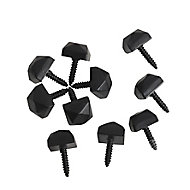 The House Nameplate Company Nickel effect Iron Decorative stud (Dia)10mm (L)10mm, Pack of 10