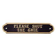 Please shut the gate Advisory sign, (H)50mm (W)240mm