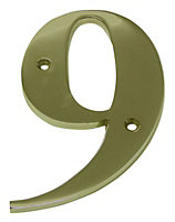 Brass 150mm House number 9