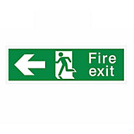 Fire exit Fire information sign, (H)125mm (W)400mm