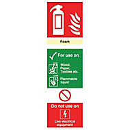 Fire hydrant foam Fire information sign, (H)280mm (W)85mm