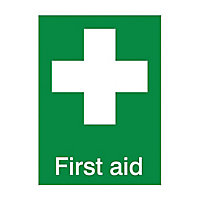 First aid Self-adhesive labels, (H)200mm (W)150mm