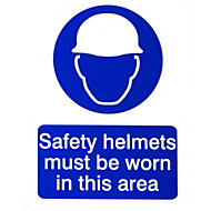 Safety helmets must be worn Safety sign, (H)200mm (W)150mm