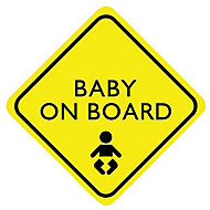 Baby on board Self-adhesive labels, (H)150mm (W)150mm