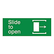 Slide to open Self-adhesive labels, (H)80mm (W)200mm