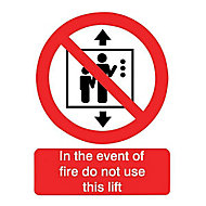 In the event of a fire Fire information sign, (H)200mm (W)150mm