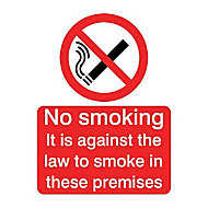 Against the law smoking Self-adhesive labels, (H)200mm (W)150mm