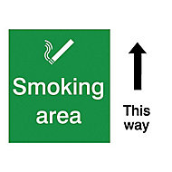 Smoking area Self-adhesive labels, (H)200mm (W)150mm