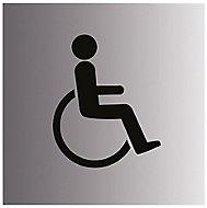 Disabled symbol Self-adhesive labels, (H)100mm (W)100mm
