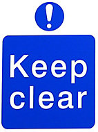 Keep clear Self-adhesive labels, (H)200mm (W)150mm