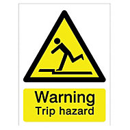 Warning trip hazard Self-adhesive labels, (H)200mm (W)150mm