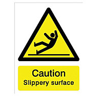Caution slippery surface Self-adhesive labels, (H)200mm (W)150mm