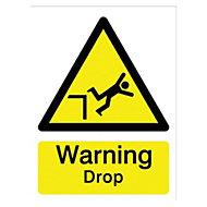 Warning drop Self-adhesive labels, (H)200mm (W)150mm
