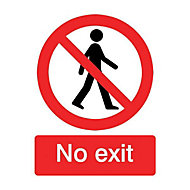 No exit Self-adhesive labels, (H)200mm (W)150mm